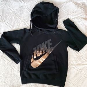 Nike Scoop Neck Hoodie Rose Gold Swoosh Sweatshirt